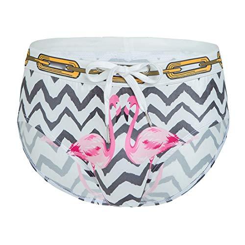 dahuo Men Summer 3D Leopard Animal Print Bikini Briefs Funny Underwear Pantie 2 S