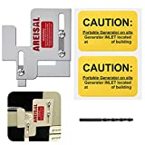 Generator Interlock Kit compatible with Cutler Hammer Generator Interlock Kit for BR Series 150 and 200 amp Panels, 1 1/4-1 7/16 inches Spacing between main and branch breaker