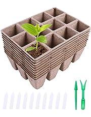 Ulikey Macetas Biodegradables, 10 Piezas Macetas de Fibra Biodegradables, Semilleros de Germinacion Biodegradable para Plántulas Maceta de Sembrado para Jardín Semillas y Trasplantes