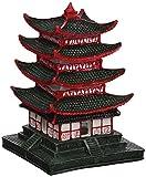 Aqua Della Chino Pagoda Acuario Decoración, 10x 10x 14cm