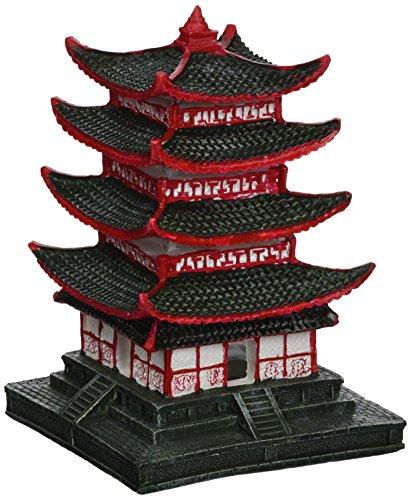 Aqua Della Chinois Pagoda Décoration d'Aquarium 10 x 10 x 14 cm