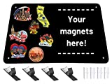Black Metal Magnet Board - 17.5 x 11.5 x 1/32 Inch Magnetic Wall Sheet for Magnets and Bulletin Board - Comes with Dual Lock Tape for Easy Hanging