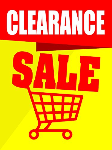 Clearance Sale Business Retail Display Sign, 18'w x 24'h, Full Color