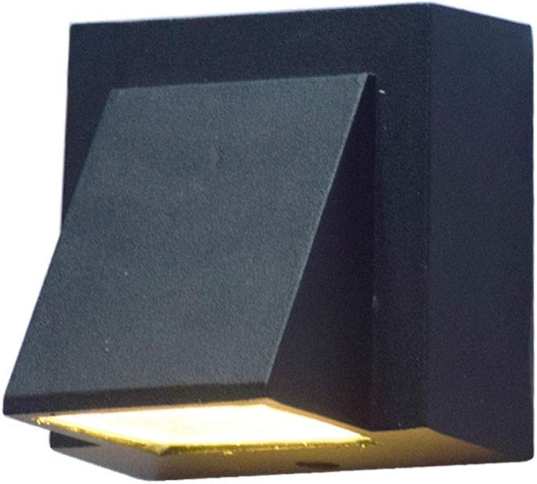 ZH Wandleuchten Wasserdichte Led-Wandleuchte im Freien - Gangflur-Innenhof-Auenwanddekorationslampen (ohne Lichtquelle) (Farbe   schwarz A)
