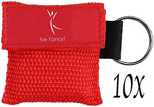 be fancy! 10x Erste Hilfe Beatmungsmaske, hygienische Mund zu Mund Beatmung für Ersthelfer in Rot