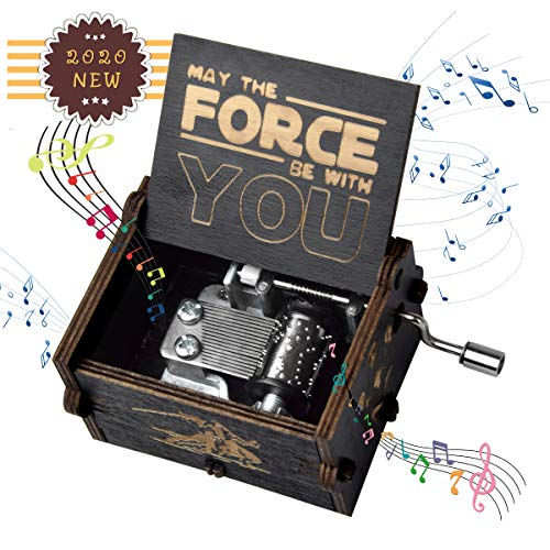fezlens Wood Music Boxes Star Wars Antique Engraved Wooden Musical Box Gifts for Birthday/Christmas/Valentine's Day/Thanksgiving Days Hand-Operated...