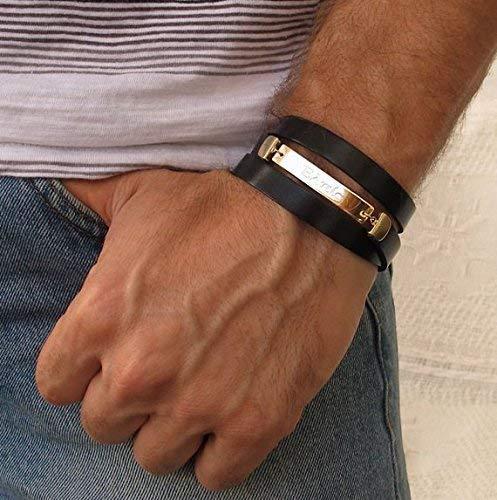 Husband Gift Men/'s Custom Bracelet Anniversary Gift Men/'s Personalized Bracelet Men/'s Name Bracelet Men/'s Engraved Bracelet