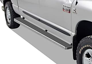 APS iBoard (304 Stainless Steel Polished Silver 6 inches) Running Boards Nerf Bars Side Steps Compatible with 2009-2018 Ram 1500 Crew Cab Pickup 4Dr & 2010-2020 Ram 2500 3500 (09-12 Drilling Required)