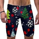 LORVIES - Bañador para hombre, diseño de árbol de Navidad y copos de nieve, talla S multicolor M