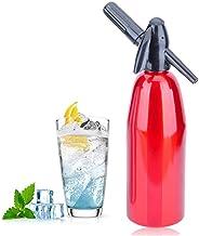 HXZB Rouge 1L Aluminium Soda Siphon Maker, Distributeur d'eau Gazéifiée Machine, Ce Sparking l'eau pour Le Jus Boissons Co...