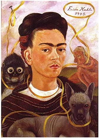 Canvas Wall Art for Living Room Portrait Wholesale Popular standard Kahlo Frida Self Giclee