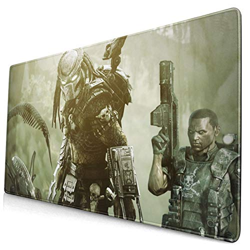 Professional Large Gaming Mouse Pad,Alien-Vs-Predator-Game-Backgrounds,75x40cm Computer Mouse Mat,Laptop Non-Slip Rubber Base Water Resistant Stitched Edge,Gaming Mouse Pad