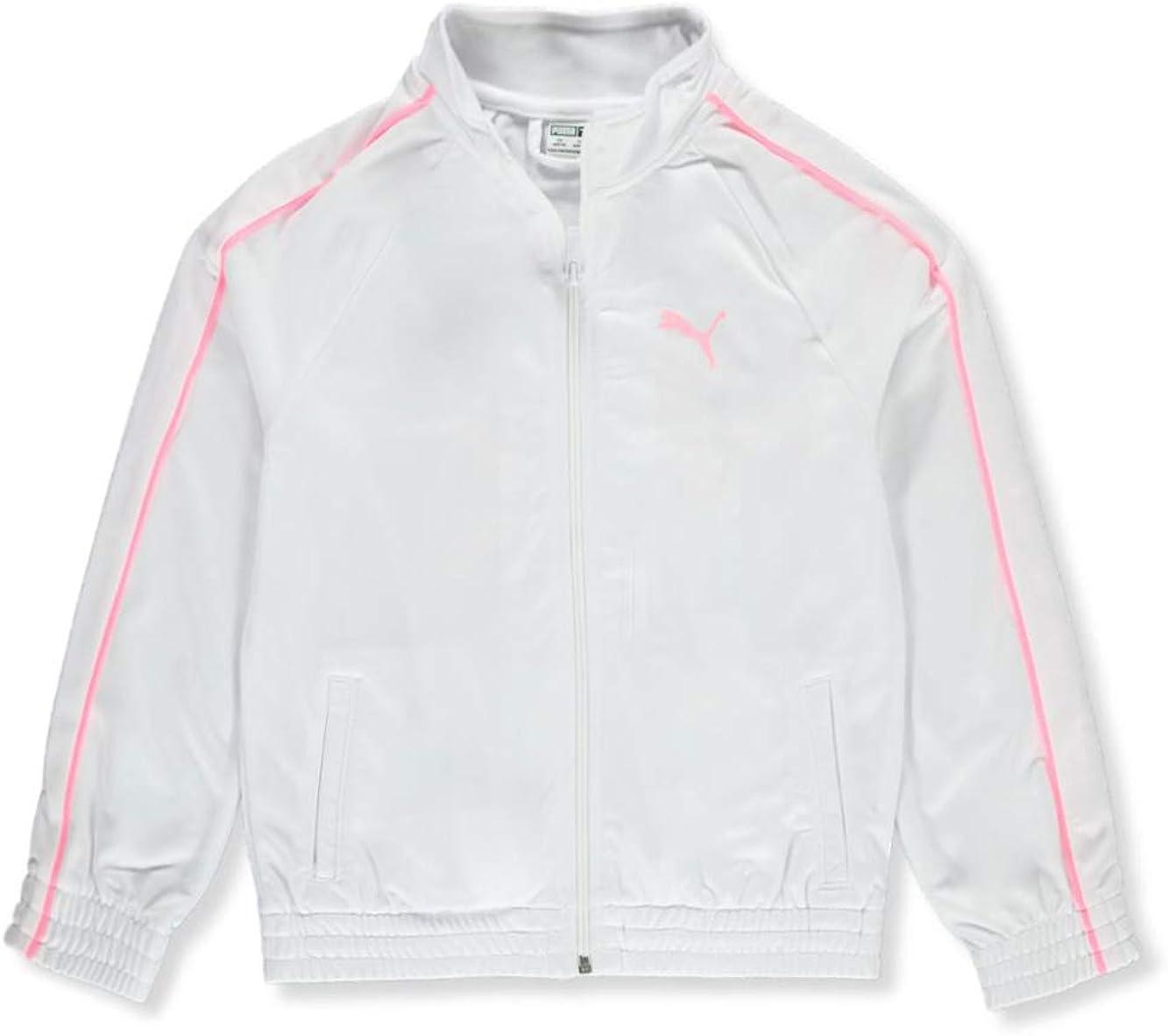 Puma Girls Piped Sleeve Track Jacket - White