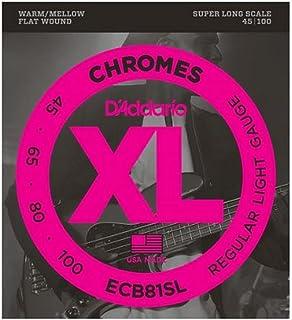 D'Addario ECB81SL Chromes Bass Guitar Strings, Light, 45-100, Super Long Scale