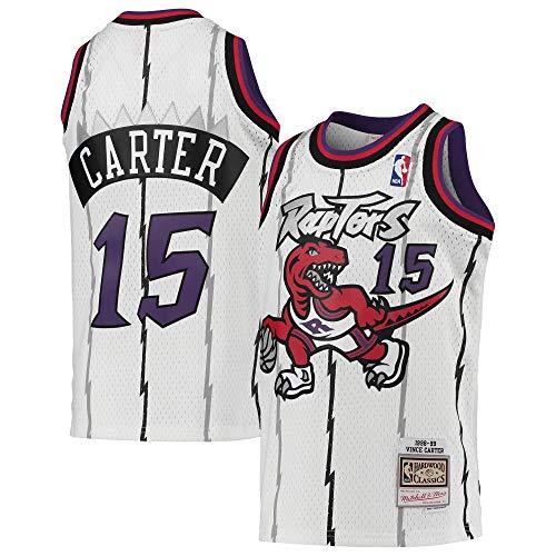 Vince Carter Toronto Raptors White #15 Youth 8-20 Throwback Soul Swingman Jersey (10-12)