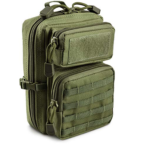 LIVANS Tactical Molle Utility Pouch, EDC Tool Pouch Tactical Phone Pouches Mini Waist Pouches Medical EDC IFAK Pack Mini Design of 3-Day Assault Backpack