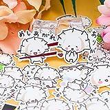 BLOUR 41pcs süße Kawaii selbstgemachte Cartoon Food Dumplings Aufkleber für Laptop Gitarre...