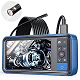 ScopeAround Endoscope 1080P HD Digital Borescope Camera Waterproof 4.5' Inch IPS Screen Snake Video Inspection Camera with 2x Len and 6 LED Lights, Semi-Rigid Cable, 32GB TF Card and Tool Bag (16.5FT)