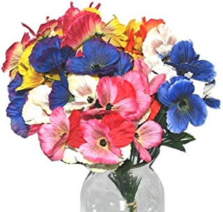 DollarItemDirect Bonita Home Artificial Pansy Stem 13 inches Assorted Colors, Case of 48