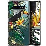 Caseink Coque pour Samsung Galaxy S10 (6.1) Gel HD [ Nouvelle Collection - Souple - Antichoc - Imprimé en France] Toucan Tropical