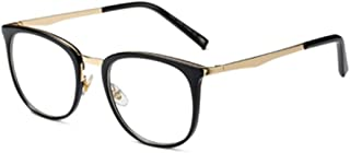 Fulision Men and Women's Vintage Optical Glasses Solid Color Printed Metal Round Full Frame Eyeglasses For Small Face