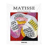 サイケデリックマティス絵画ウォールタペストリーカラフルなアーティスト絵画プリントリビングルーム装飾小さなタペストリーの家の装飾 (色 : 1, サイズ : 95x73cm)