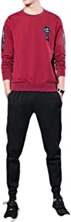 neveraway Men's 2 Piece Set Cotton Athletic Fit Relaxed Fit Tracksuit with Pockets