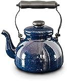Chilequano Pote de esmalte grueso, esmalte de caldera Galaxy Starry 2L SHISTLE TEAPOT llamado pote Auto-sonido Pot Cocina de Inducción Gas Universal
