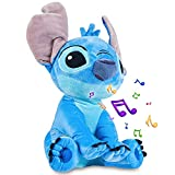 Disney Peluches Pequeños de Stitch, Simba y Dumbo, Peluche Bebe 28 cm, Disney Juguetes Interactivos (Azul Stitch)