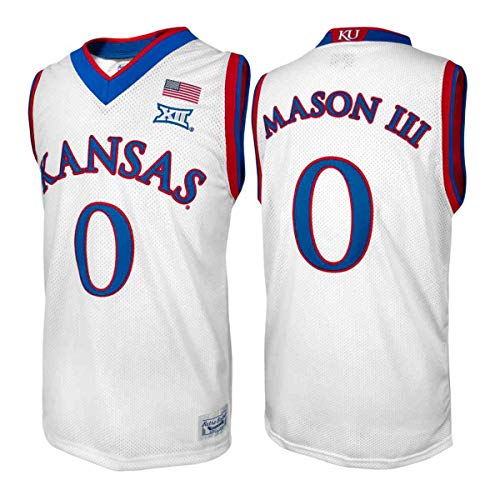 Kansas Jayhawks Frank Mason III #0 Retro Brand Authentic Basketball Jersey (2XL)