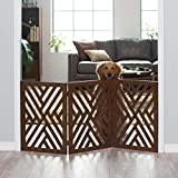 CUSTOM&WOOD Wooden Freestanding Foldable Safty Gate for Kids, Step Over Fence, Dog Gate for The House, Doorway, Stairs, Extra Wide 24X54 inch