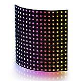 BTF-LIGHTING WS2812B 16X16cm 265ピクセル LEDマトリックスパネル RGB 5050 SMD デジタルフレキシブル 個別にアドレス指定可能 フルカラーLEDパネル DC5V