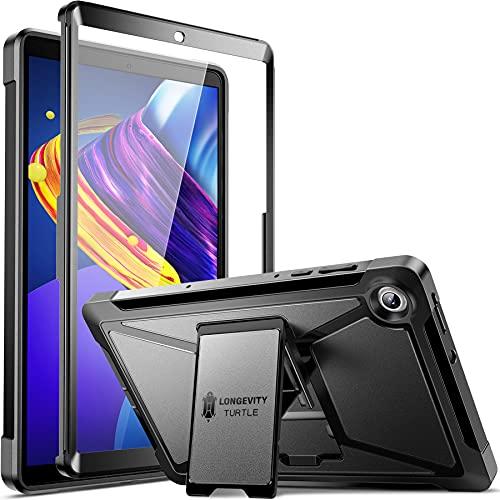 ZtotopCases Funda para Nuevo Lenovo Tab M10 10.1 2020(TB-X306X/TB-X306F), Protector de Pantalla Incorporado,Funda Protectora de Cuerpo Completo a Prueba de Golpes de Doble Capa,Negro