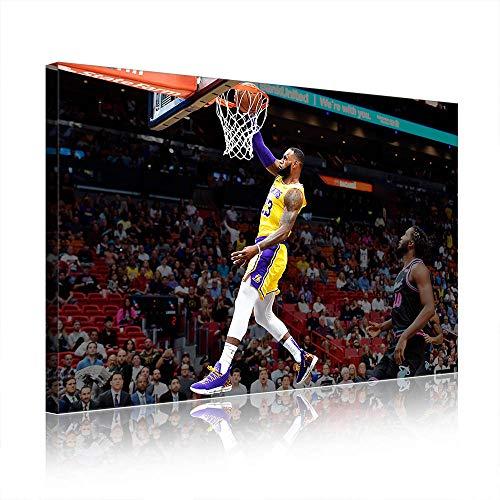 NBA Cleveland Cavaliers Lebron James Canvas Prints Poster Picture New Home Decor Men's Cave Gift (prints15,60x90cm)