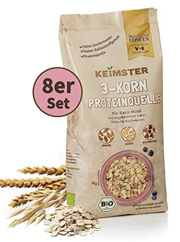 KEiMSTER Bio-Basis-Müsli | Angekeimter Hafer, Dinkel & Buchweizen, ballaststoffreiche Proteinquelle | Ideal als Müsli, Porridge oder im Brot (8)