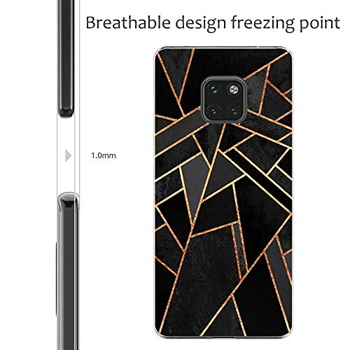 Croazhi Compatible with Hülle Huawei Mate 20 Pro Case Handyhülle para Huawei Mate 20/ Mate 20 Pro Silikon Crystal Tasche Cover TPU Schutzhülle Clear Transparent Backcover (6, Huawei Mate 20 Pro) - 4