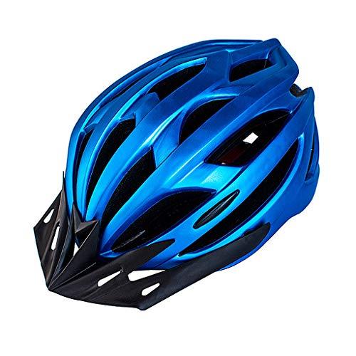 Casco De Ciclista, Bicicletas Cascos Mate Negro Unisex Casco De La Bici Montaña Trasera Camino De Luz Moldeado Integralmente Transpirable Montaña MTB del Camino Ultraligero,Blue Black