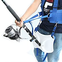 Offshore Fighting Fishing Belt Vest Harness Fishing Rod Pole Holder by Skallywags Depot