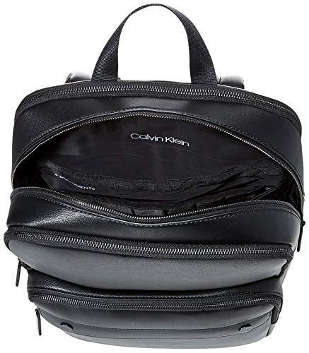 51R7ftuOGfL - Calvin Klein - United Pu 3g Square Backpack, Mochilas Hombre, Negro (Blackwhite Black), 1x1x1 cm (W x H L)