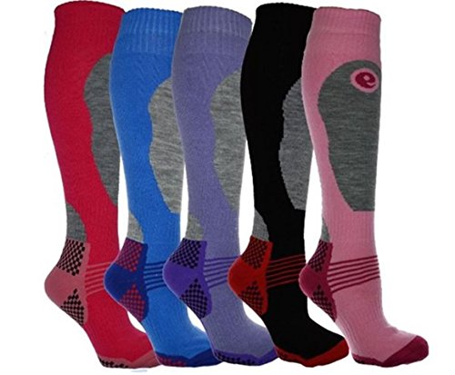 Undercover lingerie 3 Pairs Long Length Ski Socks Mixed Colours Ladies