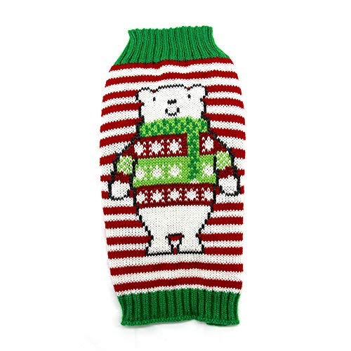 NACOCO Dog Snowman Sweater Christmas Warm Cat Costume Pet Polar Bear Design Coat Winter Cat New Year Clothes for Small to Large Dogs (Snowman, L)