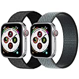 Nylon Loop Bands Compatible with Apple Watch Bands 38mm 40mm Sport Band Compatible with Apple Watch Series 6 5 4 3 2 1 SE