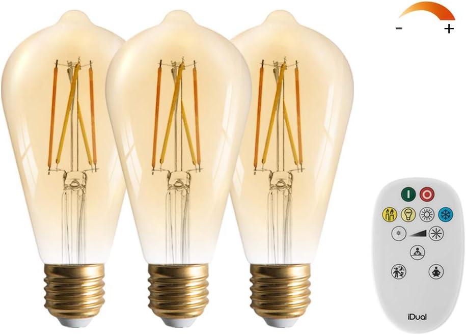 3 Packs LUTEC ST21 E26 年末年始大決算 Bulbs Light Vintage 送料無料 Edison Re