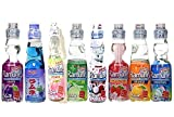 Ramune Japanese Soda Drinks Gift Set 8 Variety Pack Additional 3 Pack Ginger Honey Crystals
