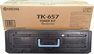 Kyocera 1T02FB0US0 Model TK-657 Black Toner Cartridge For use with Kyocera KM-6030 and KM-8030 Multifunctional Printers, Up to 47000 Pages Yield at 5% Average Coverage