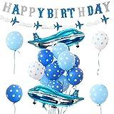 Airplane - Globos de avión para decoración de cumpleaños, para niños, cumpleaños, Fiestas, Suministros