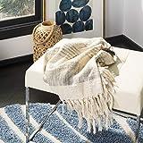 Safavieh Voleta Metallic Throw Blanket, White/Grey/Gold
