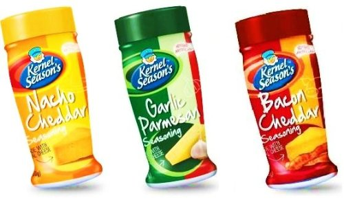 Best Buy! Kernel Season's Popcorn Seasoning Kit CHEESE LOVERS Sampler Set Nacho Cheddar, Garlic Parm...
