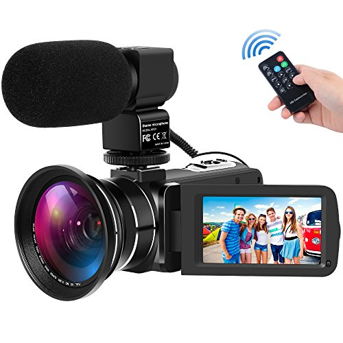 YEMIUGO Digital Camcorders Full HD 1080P 30FPS 24MP Video Camera 16X Digital Zoom IR Night...
