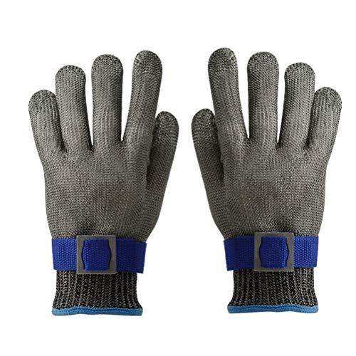 Schnittfeste Handschuhe-XHZ Handschuhe Aus Edelstahl 316, Fünfstufige Schnittfeste Handschuhe, Sowohl for Die Linke Als Auch for Die Rechte Hand Geeignet. (Color : Two, Size : Size L)